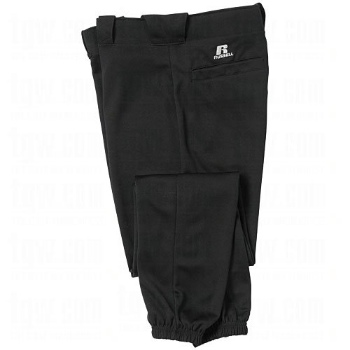 Russell Mens Knit Baseball Game Pants Black M