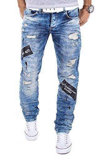 Redbridge Jeans by Cipo & Baxx RBC Herren Hose Verwaschen Clubwear Vintage Used W29-W38 L32/L34 (W32/L34)