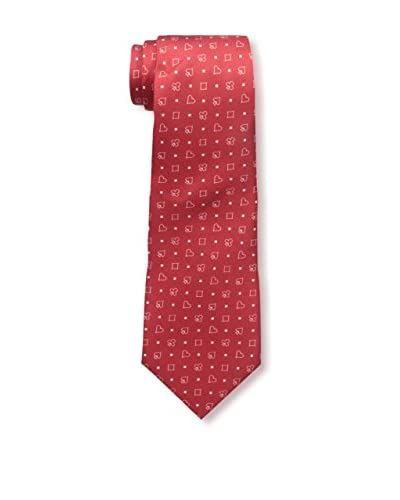 Valentino Men's Patterned Tie, Red