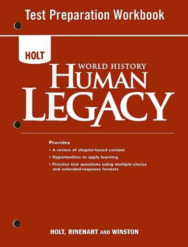 World History: Human Legacy Full Survey: Test Preparation Workbook