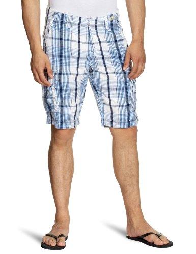Tommy Hilfiger Mens Ben Cargo Blue Check Short (Waist 32)