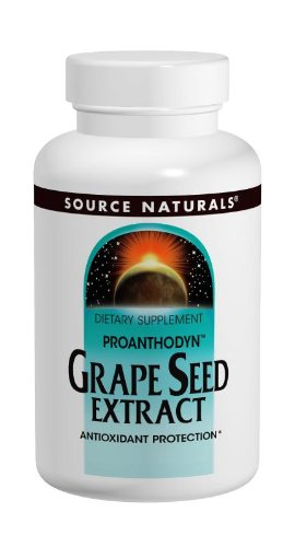 Source Naturals Proanthodyn Grape Seed Extract 100mg, Excellent Free Radical Scavengers, 120 Tablets