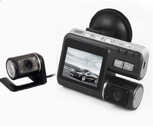 Hd 720p Dual Lens Dashboard Car DVR Vehicle Camera Video Recorder   CAM G-sensor