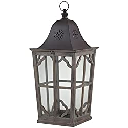 Sterling Industries 137-001 High Green Large Wooden Lantern