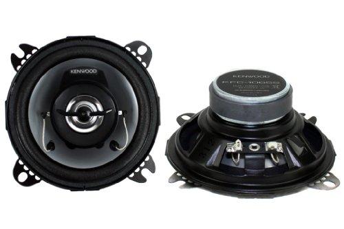 """Kenwood Kfc-1065S 4"""" 2-Way Coaxial Car Stereo Speakers"""
