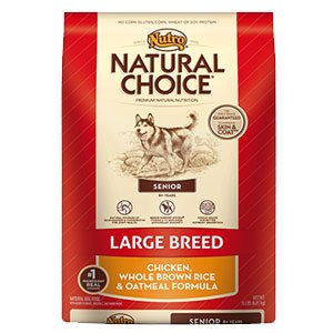 Natural Choice 30-Pound Breed Senior Dog Food Chicken/Whole Brown Rice And Oatmeal Formula, Large