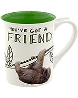 Enesco Hoots 'N Howlers Sloth Mug, 16-Ounce