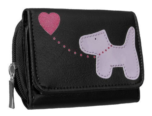 EyeCatchBags - Dog Emblem Faux Leather Fabretti Womens Purse