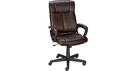 Stunning Staples Turcotte Luxura High Back Office Chair Brown from Staples for