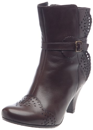 Hush Puppies Women's Chrissy Dark Brown Leather Ankle Boots H2609702K 7 UK