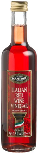 Mantova Italian Red Wine Vinegar, 17-Ounce Bottles