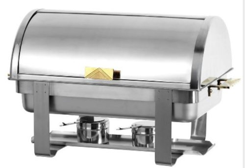 Stainless Steel Roll Top Buffet Chafing Dish