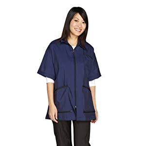 Top Performance Teflon Coated Nylon Zip-Front Groomers Jacket, Small, Navy by Top Performance