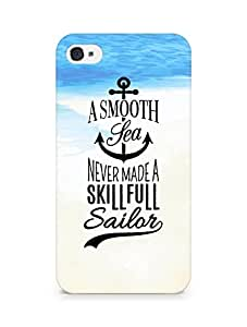 Amez A Smooth Sea Never made a Skillful Sailor Back Cover For Apple iPhone 4s