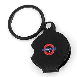 SahiBUY Pocket Spiegel Pocket Magnifying Glass (BLACK)