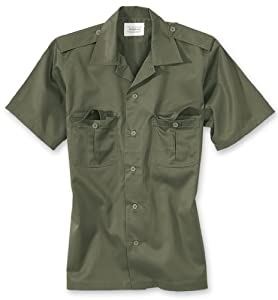 Vintage Military Style US Tactical BDU Short Sleeve Shirt