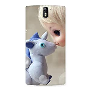 Enticing Lovely Cute Baby Girl Multicolor Back Case Cover for One Plus One