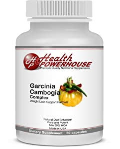 Garcinia Cambogia Complex Premium-grade Weight-loss Pills Supplements All-natural Belly-fat Burner Formula Extra Slimming Power No Diet No Effort Lose Weight Fast Natural Diet Pills Garcinia Praised On Dr Oz Tv Show Full Money-back Warranty by Health Powe