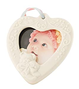Belleek 4123 Baby Frame Hanging Ornament, 2.75-Inch, White