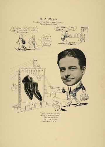 1923 Print H. A. Meyer Chicago Men Retail Shoe Company - ORIGINAL - Original Print