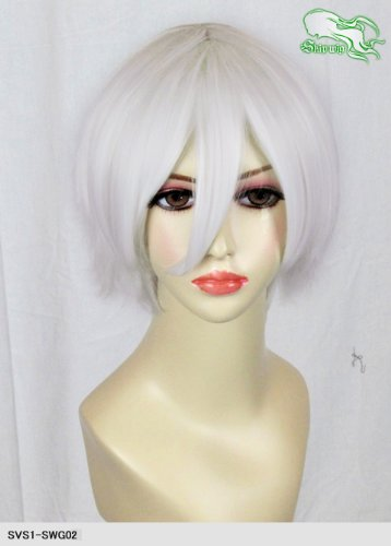 スキップウィッグ 魅せる シャープ 小顔に特化したコスプレアレンジウィッグ マニッシュショート ホワイトキャンディ
