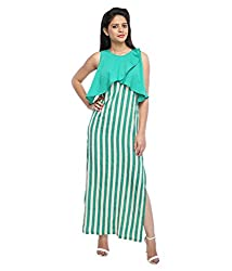 Tryfa Women's Dress (TFDRMX000071-XS-L_Green_Large)