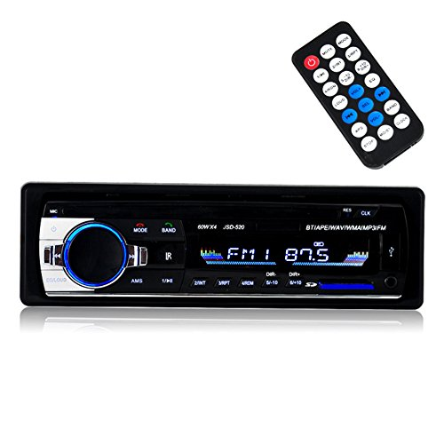 BESTREE Bluetooth Audio Receiver MP3 Player/FM Radio1 Din in Dash USB/SD/AUX Car Electronics with Remote Control, Car Stereo Player, 12V (Car Radio Usb compare prices)