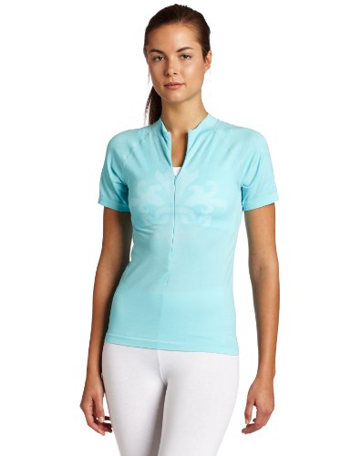 Shebeest Women&#39;s Strada Crest Seamless Jersey, Ocean, Medium