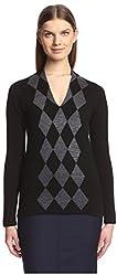 Pringle of Scotland Women's Long Sleeve Sweater, Black, XS