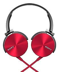 Sony MDR-XB450 On-Ear Extraa Bass Headphone (Red)