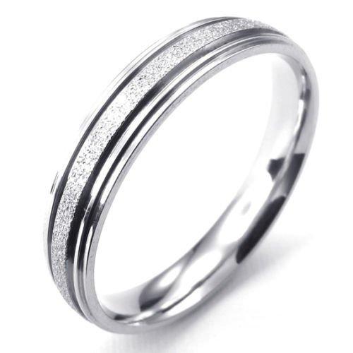 (キチシュウ)Aooazジュエリー ユニセックスステンレスリング指輪 細身ラインデザイン シルバー 高品質のアクセサリー 日本サイズ9号(USサイズ5号)