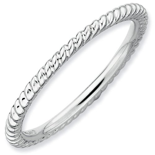 Grooved Stackable Ring 1.5mm - Size 7