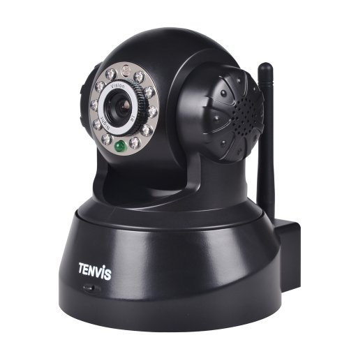 Tenvis Wireless Ip Pan/Tilt/ Night Vision Internet Surveillance Camera Built-In Microphone With Phone Remote Monitoring Support(Black)