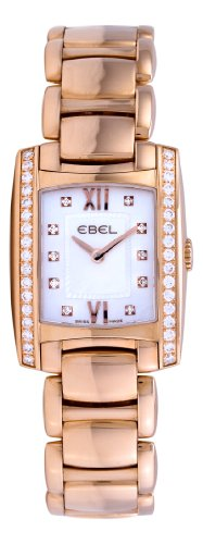 Ebel Women's 5976M28/9820500 Brasilia Rose Gold Diamond Watch