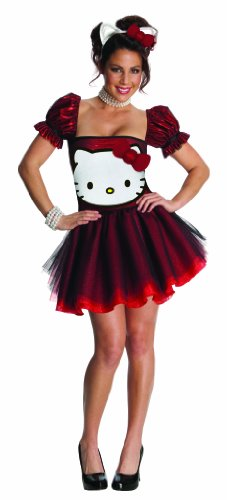 [Hello Kitty Sexy Red Sequin Costume Dress Adult X-Small 0-2] (Sexy Hello Kitty Costumes)