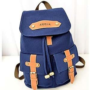 Amazon.com : BuW Women Vintage Canvas Satchel Backpack
