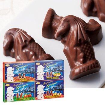 シンガポールお土産 マーライオンチョコレート4種 4箱セット