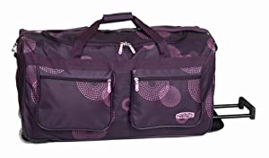 "Cabin size trolley bags 27"" black/plum by Frenzy fireworks, 69X30X38cm dimension, 2.4 Kg weight and carries a MASSIVE 78L weight (Plum) from USB International"