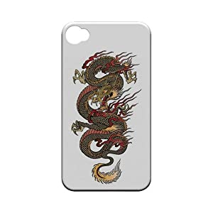[Geeks Designer Line] Dragon on White Apple iPhone 4 / 4S Plastic Case Cover [Anti Slip] Supports Premium High Definition Anti-Scratch Screen Protector; Durable Fashion Snap on Hard Case; Coolest Ultra Slim Case Cover for iPhone 4 / 4S Supports Apple 4 / 4S Devices From Verizon, AT&T, Sprint, and T-Mobile