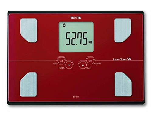 Tanita bc-313 - Analizzatore di composizione corporea, ultra-precisa a 50 g, colore: rosso
