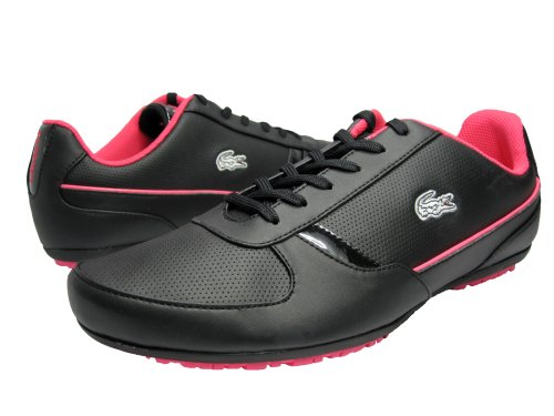 Lacoste Atheton Patent Women's Athletic Sneakers Leather Shoes Black Size 8