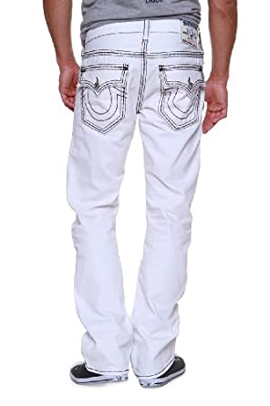 True Religion Straight Leg Jeans STRAIGHT WFLPS WH, Color: White, Size: 33