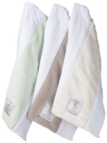 Little Giraffe Mess With This Luxe Blanket Gift Set, Celadon/Flax/Cream