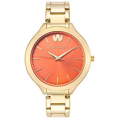 wristology-macy-womens-chunky-gold-metal-boyfriend-watch-coral-face-thin-strap