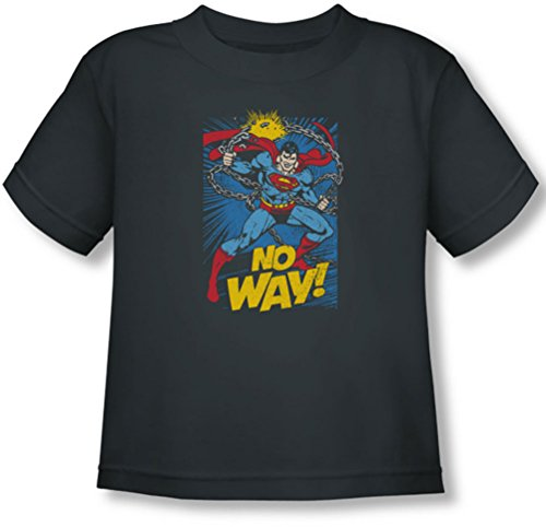 Dc - Toddler No Way T-Shirt, Size: 3T, Color: Charcoal front-908323