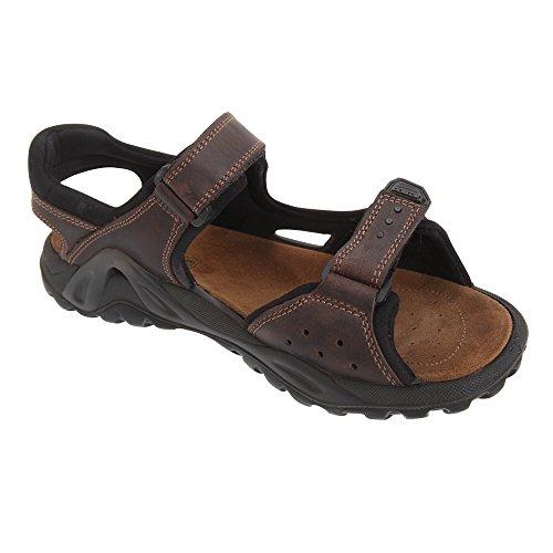 IMAC - Sandali con Velcro - Uomo (42) (Marrone)
