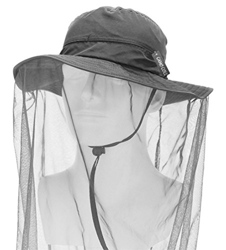 camo-coll-outdoor-anti-mosquito-mask-hat-with-head-net-mesh-face-protection-dark-gray-one-size