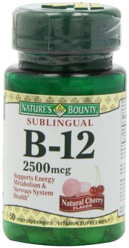 凑单品:NATURE'S BOUNTY 自然之宝 Sublingual 维生素B-12(2500mcg*50片*3瓶) $15.15