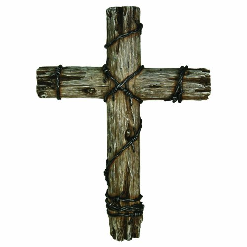 River's Edge Wooden Wire Cross, Brown