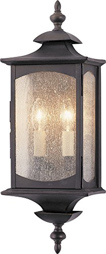 Murray Feiss OL2601ORB, Market Square Outdoor Wall Pocket Sconce Lighting, 120 Total Watts, Bronze